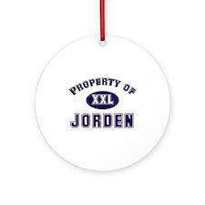 Property of jorden Ornament (Round)