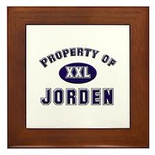 Property of jorden Framed Tile