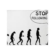 stop following Throw Blanket