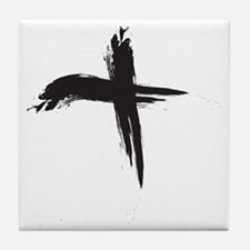 Ash Wednesday (Cross sq) Tile Coaster