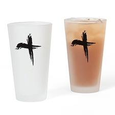 Ash Wednesday (Cross sq) Drinking Glass