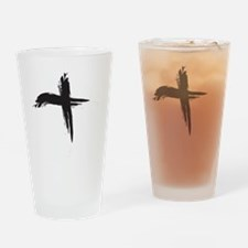 Ash Wednesday (Cross sq) Drinking Glass