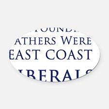 East Coast Liberals Oval Car Magnet
