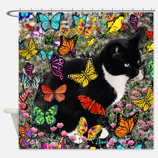 Freckles in Butterflies I Shower Curtain