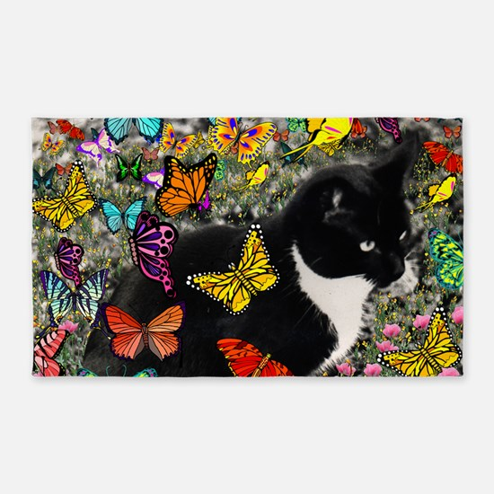 Freckles in Butterflies I 3'x5' Area Rug
