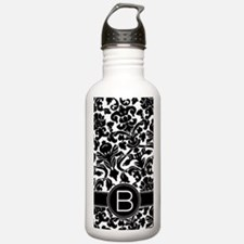 Damask Monogram B Water Bottle