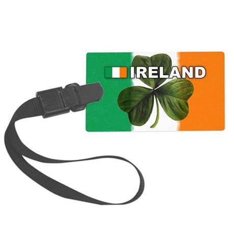 irl-pic-clover Large Luggage Tag
