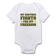 My Brother Fights For Freedom Infant Bodysuit