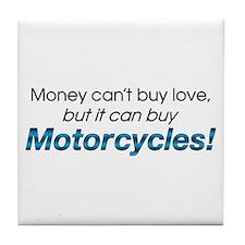 Money & Motorcycles Tile Coaster