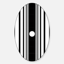 doppler_ipad1_inverse Sticker (Oval)