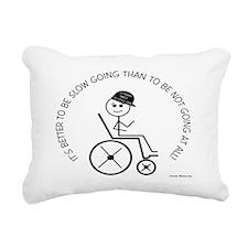 10X8slow_going_wheelchai Rectangular Canvas Pillow