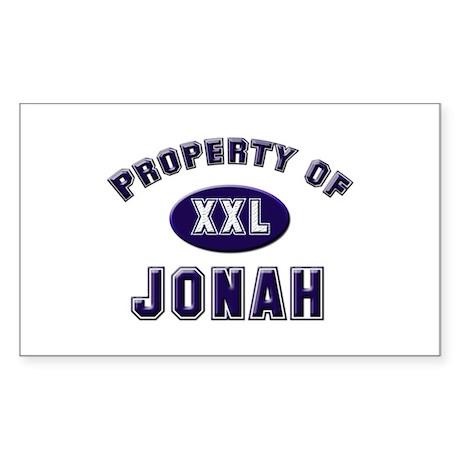 Property of jonah Rectangle Sticker