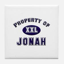 Property of jonah Tile Coaster