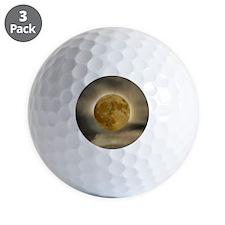 moon button Golf Ball