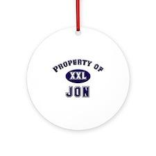 Property of jon Ornament (Round)