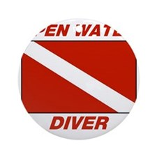 Open Water Diver Round Ornament