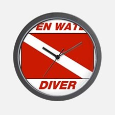 Open Water Diver Wall Clock