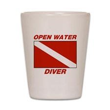 Open Water Diver Shot Glass