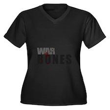 Bones3_tshir Women's Plus Size Dark V-Neck T-Shirt