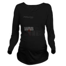 Bones3_tshirtGraphic Long Sleeve Maternity T-Shirt