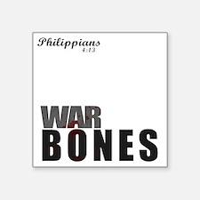 """Bones3_tshirtGraphics Square Sticker 3"""" x 3"""""""