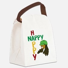 nappy and happy Canvas Lunch Bag