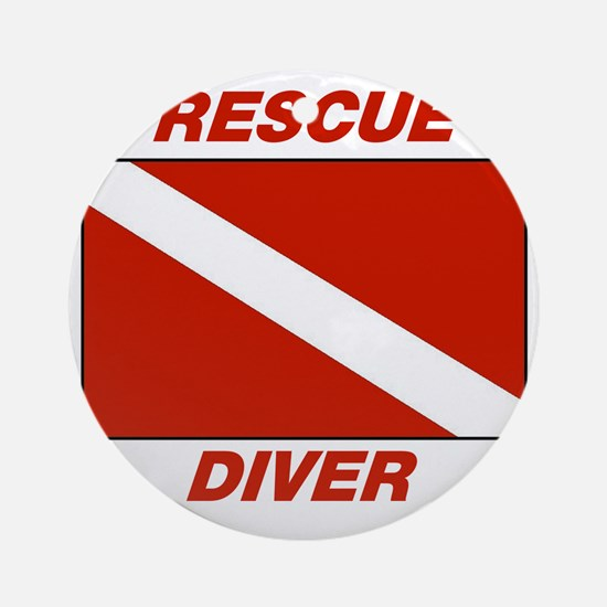 Rescue Diver Round Ornament