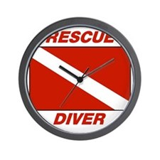 Rescue Diver Wall Clock