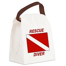 Rescue Diver Canvas Lunch Bag