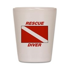 Rescue Diver Shot Glass