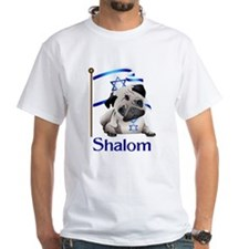 Shalom Pug with Israeli Flag T-Shirt