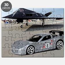 Hot Wheels_Corvette C6-R_Silver_F-117A Puzzle