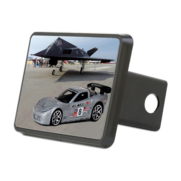 hot wheels corvette c6 r s rectangular hitch cover by. Black Bedroom Furniture Sets. Home Design Ideas