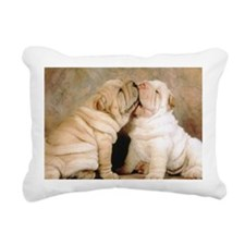 shar pei post Rectangular Canvas Pillow