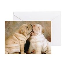 shar pei post Greeting Card