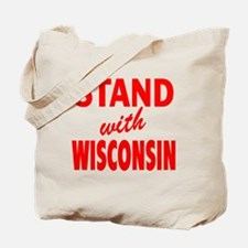 Stsnd with Wisconsin red Tote Bag