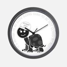 neg_slow_going_turtle Wall Clock