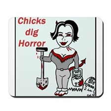 Chicks Dig Horror Mousepad