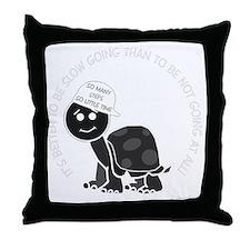 neg_slow_going_turtle Throw Pillow