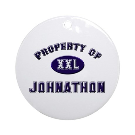 Property of johnathon Ornament (Round)