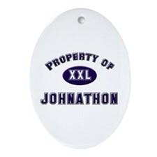 Property of johnathon Oval Ornament