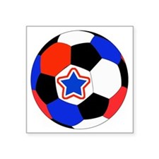 """United States Soccer Red, W Square Sticker 3"""" x 3"""""""