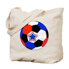 United States Soccer Red, White, Blue Gif Tote Bag