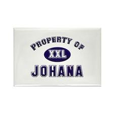 Property of johana Rectangle Magnet