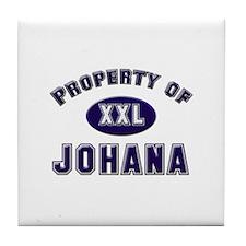 Property of johana Tile Coaster