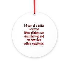 chickens1 Round Ornament