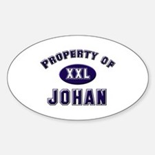 Property of johan Oval Decal