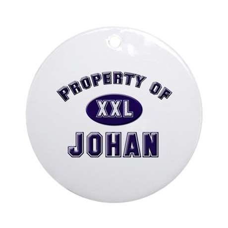 Property of johan Ornament (Round)