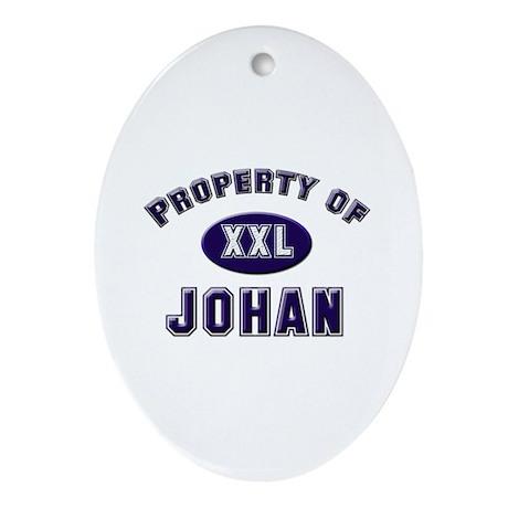 Property of johan Oval Ornament