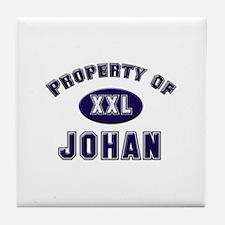 Property of johan Tile Coaster